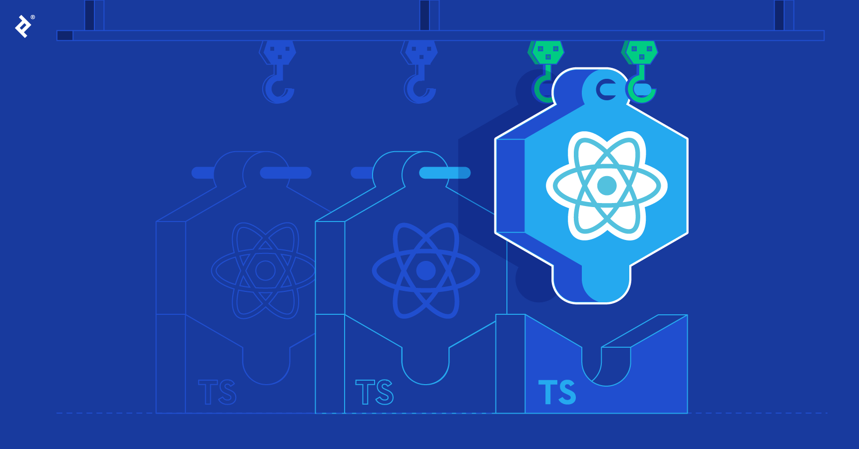 Working with React Hooks and TypeScript.