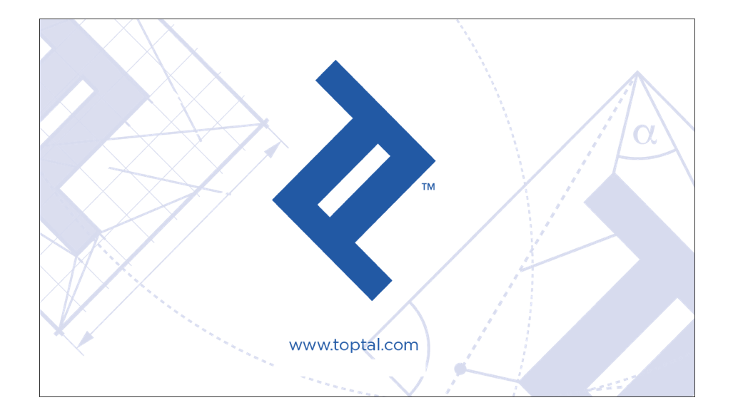 Back side of toptal business card