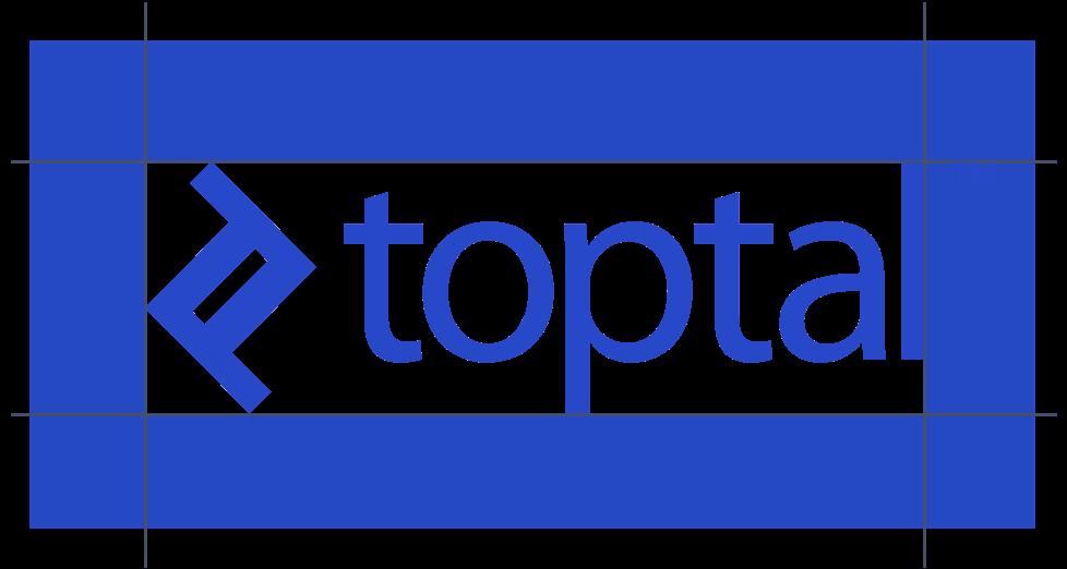Toptal logo spacing guides
