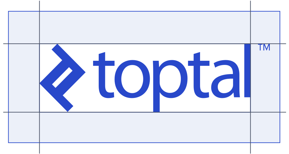 Toptal logo spacing guides