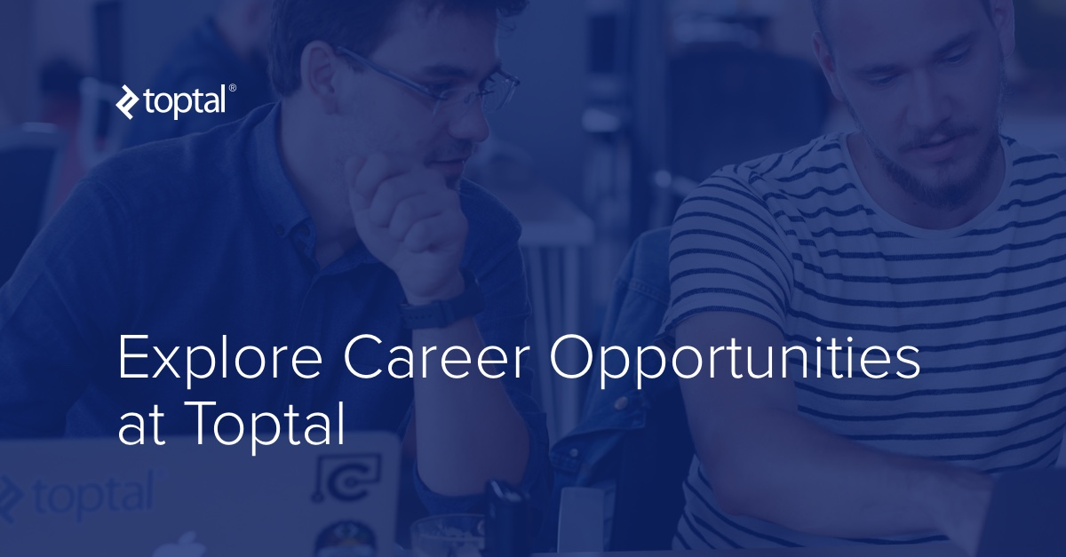 Remote Tech Jobs with Toptal | Toptal®