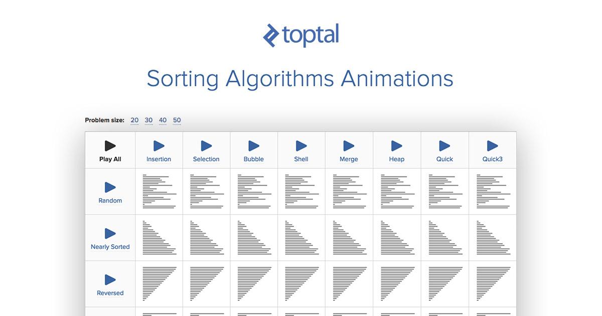 Sorting Algorithms Animations | Toptal®