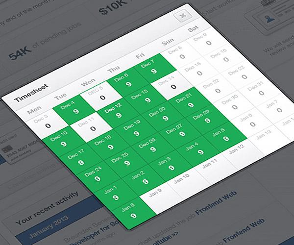 An image of a development project calendar.