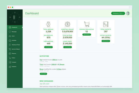 Watch Sales and Inventory Dashboard