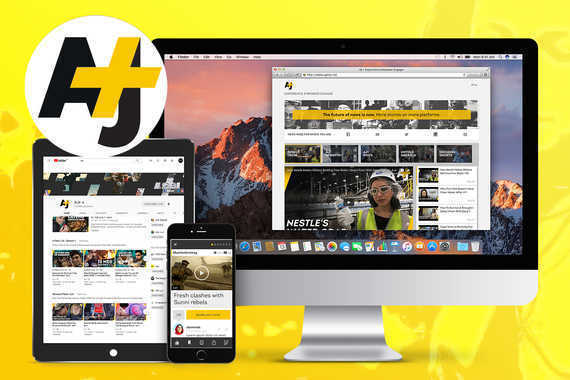 AJ+ News and Information Apps With Responsive Website and Full Brand Identity