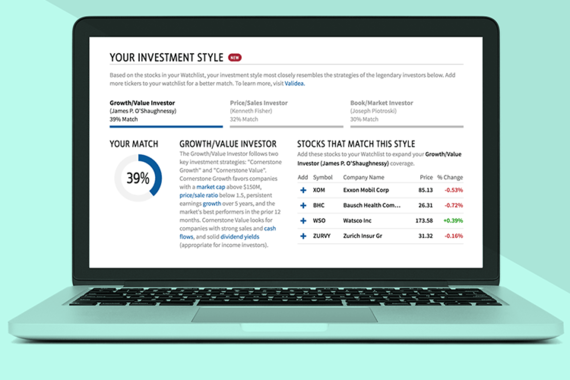 Your Investment Style – Stock Watchlist Product