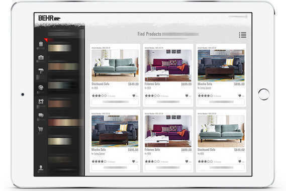 Behr Hub & Spoke: Interior Decorating and eCommerce Mobile App