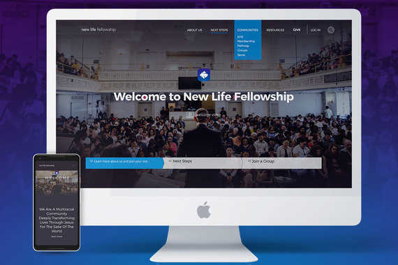 New Life Fellowship Rebrand and Website Development