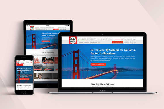 Bay Alarm | UI Design for a Security Website