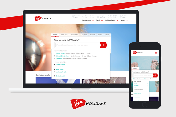 Virgin Holidays· Search Experience
