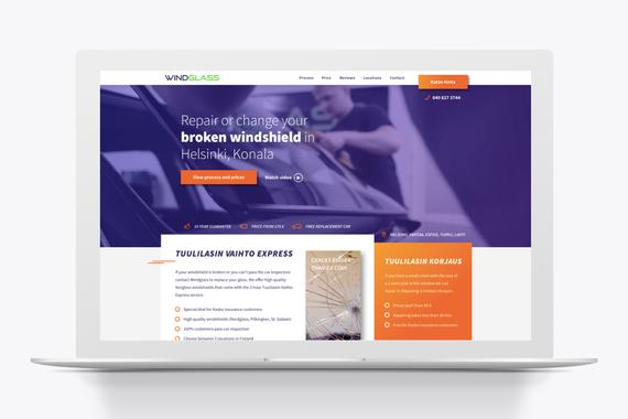 Windglass.fi Landing Page