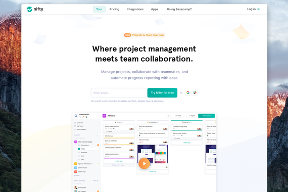 Nifty Project Management and Collaboration