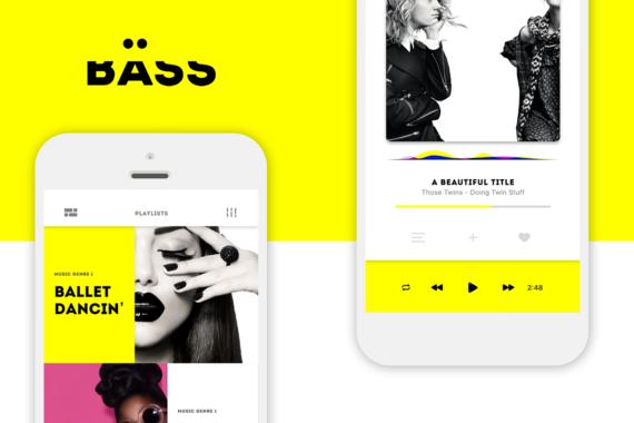BÄSS - Music App Concept