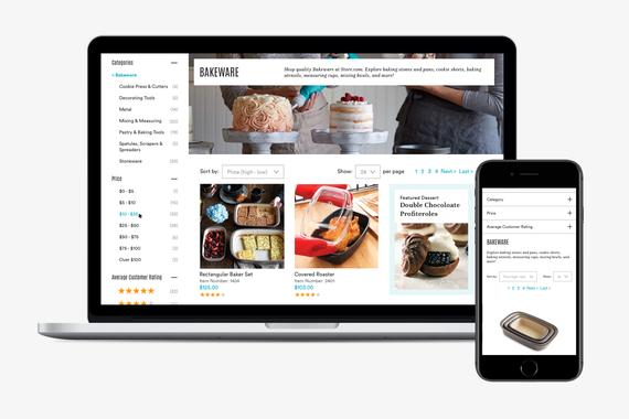 Responsive eCommerce Product Catalog UX/UI Design