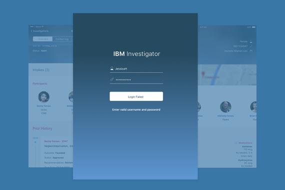 IBM Child Welfare Investigator | iOS App