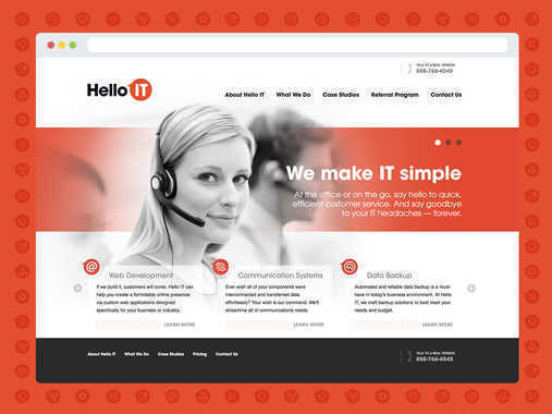 Hello IT - Naming, Identity Design, Icon Suite, Style Guide, Web Design