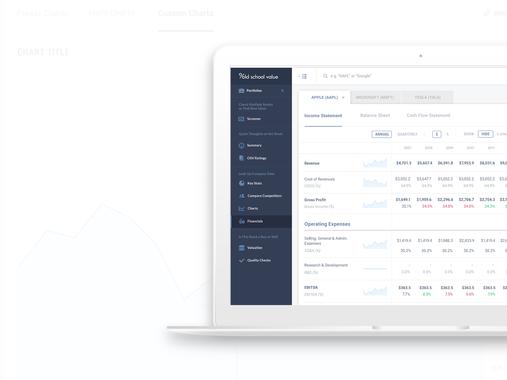 Stock analysis web application
