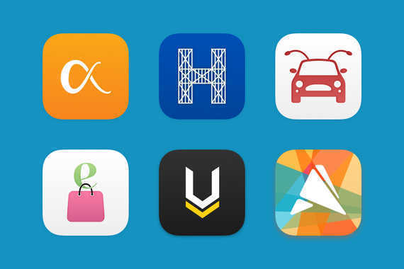 Various Branding Identities, Logos, and App Icons