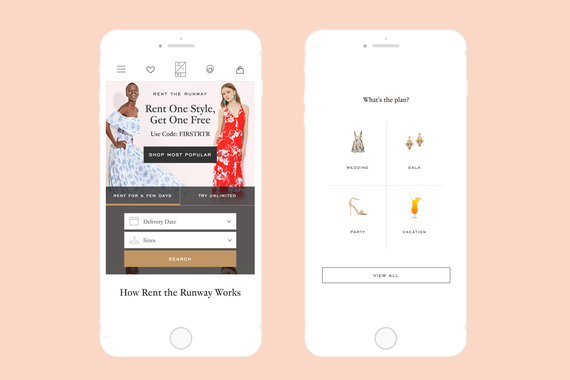 Rent the Runway Mobile Experience
