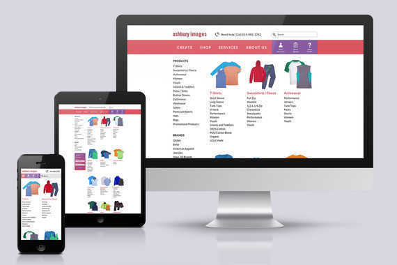 Ashbury Images | UX/UI Design for an eCommerce Website