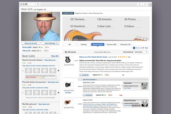 UX/UI Design for Guitar Center