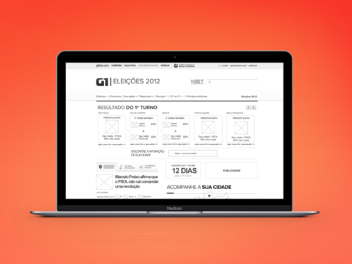 Elections Portal at G1