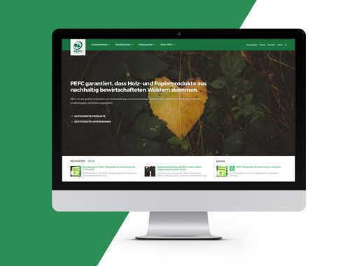 PEFC Deutschland Website Redesign