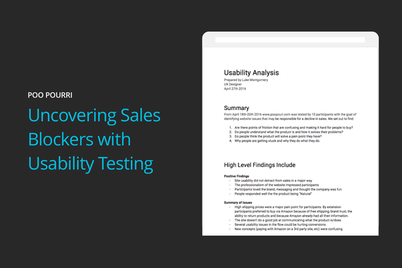Uncovering Sales Blockers With Usability Testing