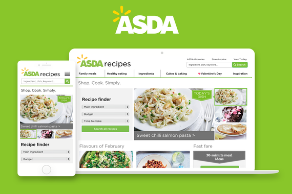 Redesign of Asda Recipe Site