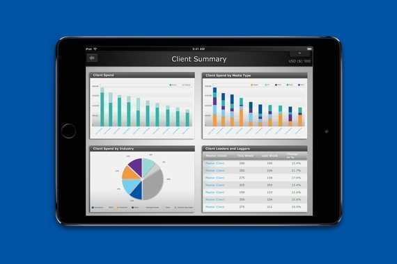 iPad Dashboard for Executives