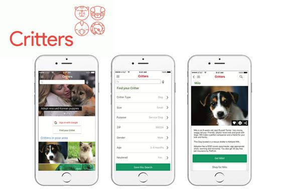 Critters Pet Adoption App