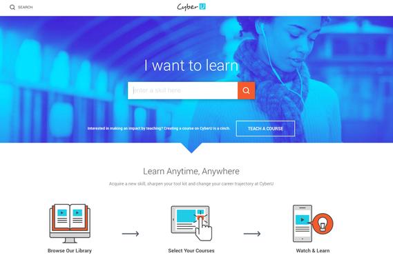 CyberU: Online Learning Responsive Web App
