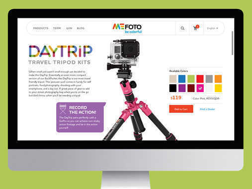 MeFoto eCommerce Website
