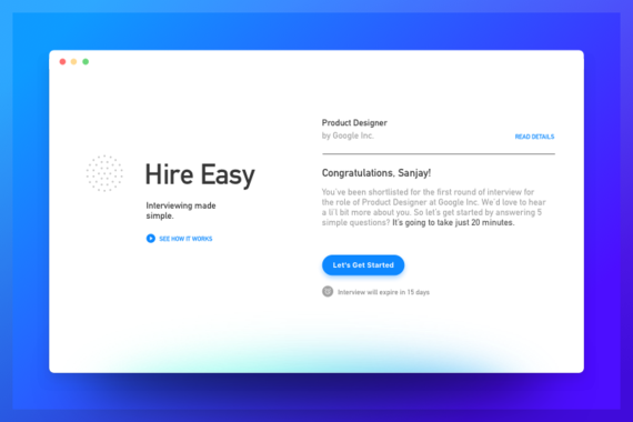 Hire Easy — Automated Interviewing Tool