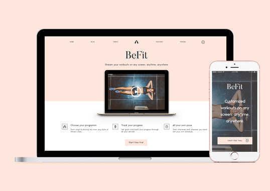 BeFit Landing Page