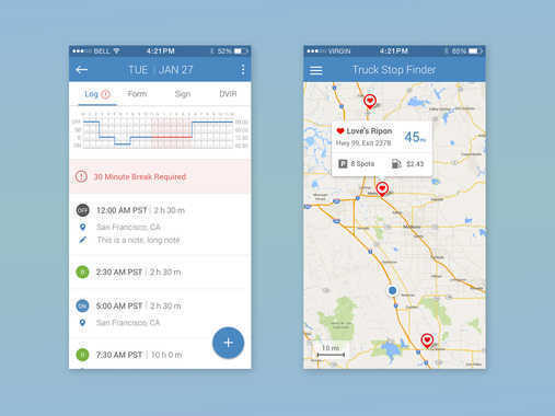 KeepTruckin Mobile Application