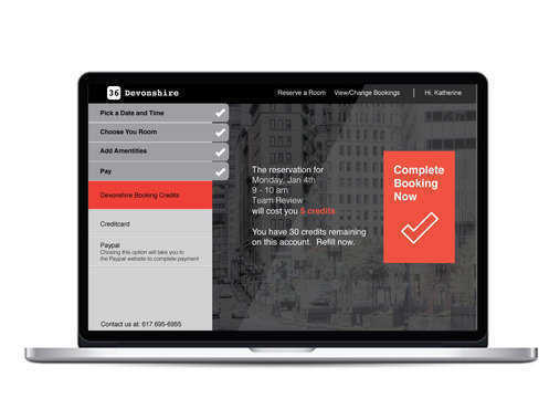 Devonshire Booking System