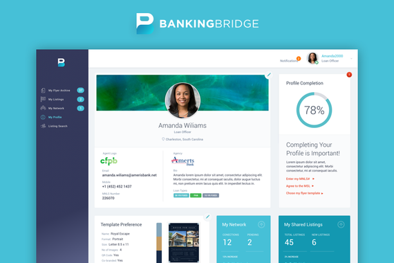 BankingBridge Responsive B2B Dashboard and Marketing Website