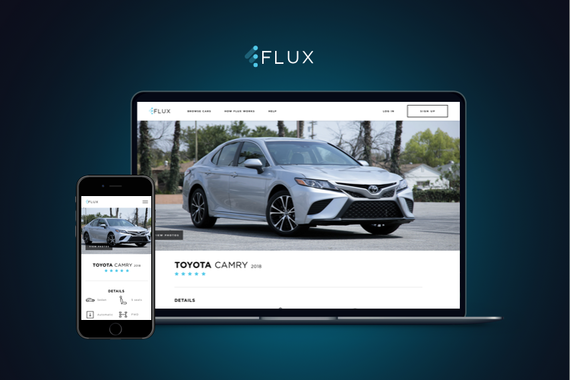 FLUX | Car-subscription Service Website