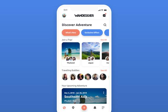 WANDERGIER • Mobile App for Travelers