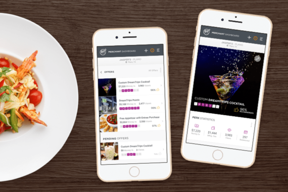 DreamTrips Mobile Merchant Dashboard