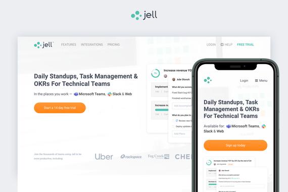 Responsive Web Site (Jell.com)