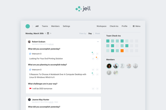 B2B SaaS App (Jell)