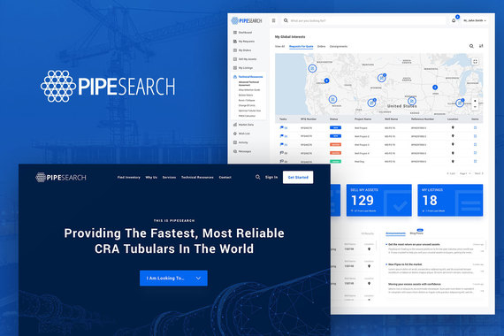 SaaS Application & Website - PipeSearch