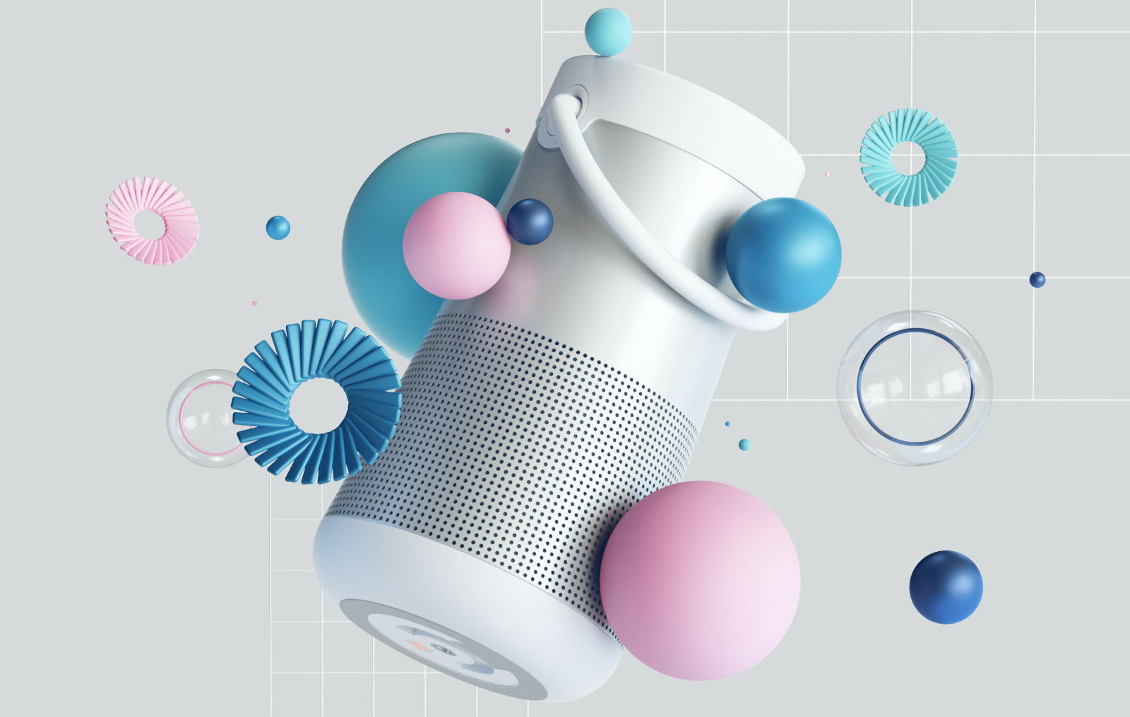 3D visualization for Bose speaker, part of UX trends 2019