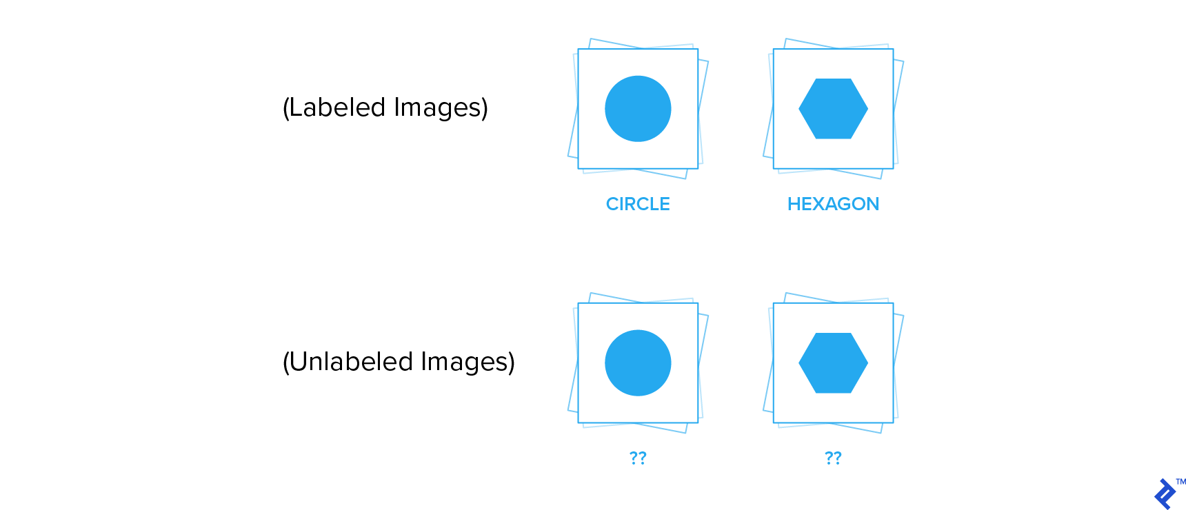 Labeled and unlabeled images