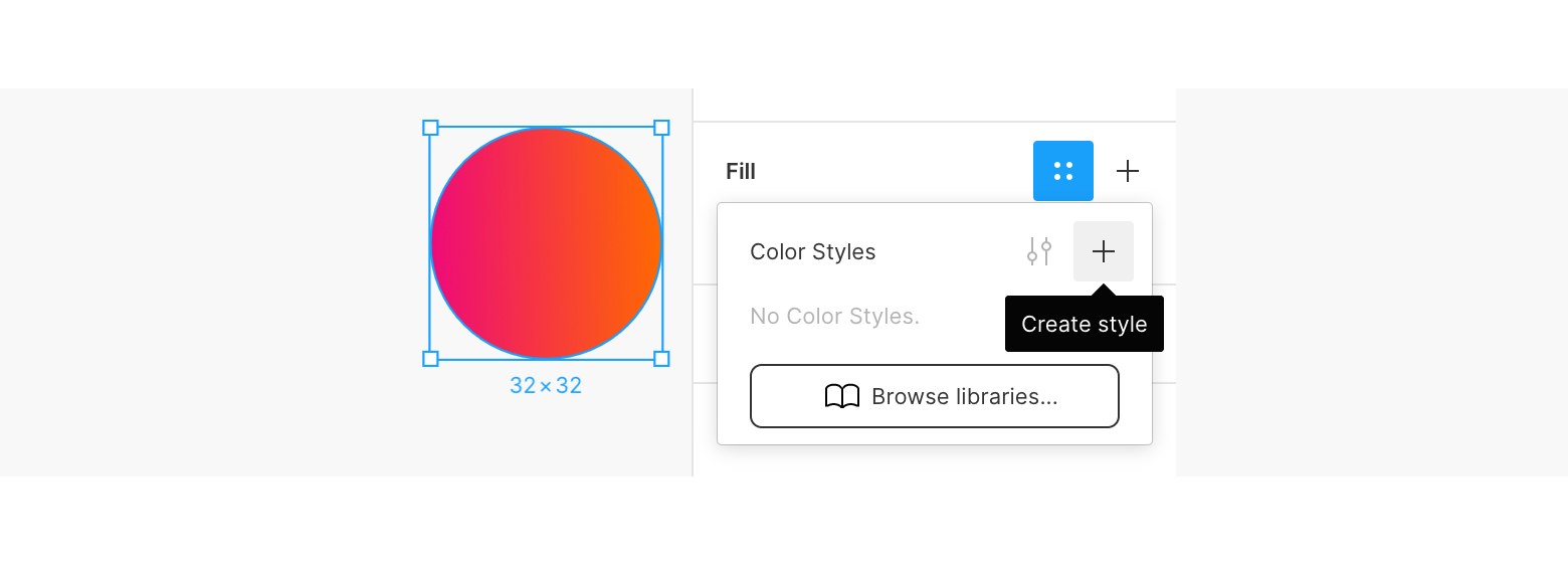 Figma styles in a figma design system