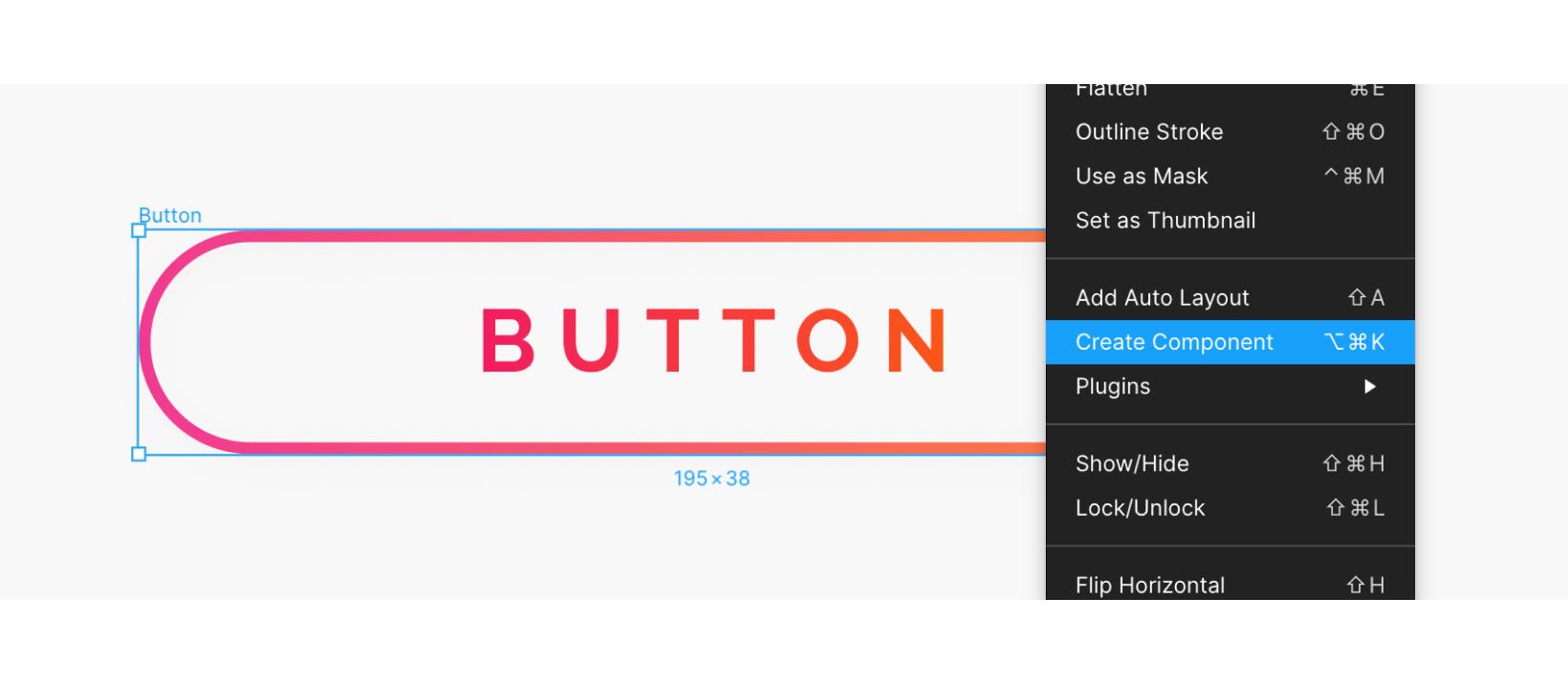 Figma button component