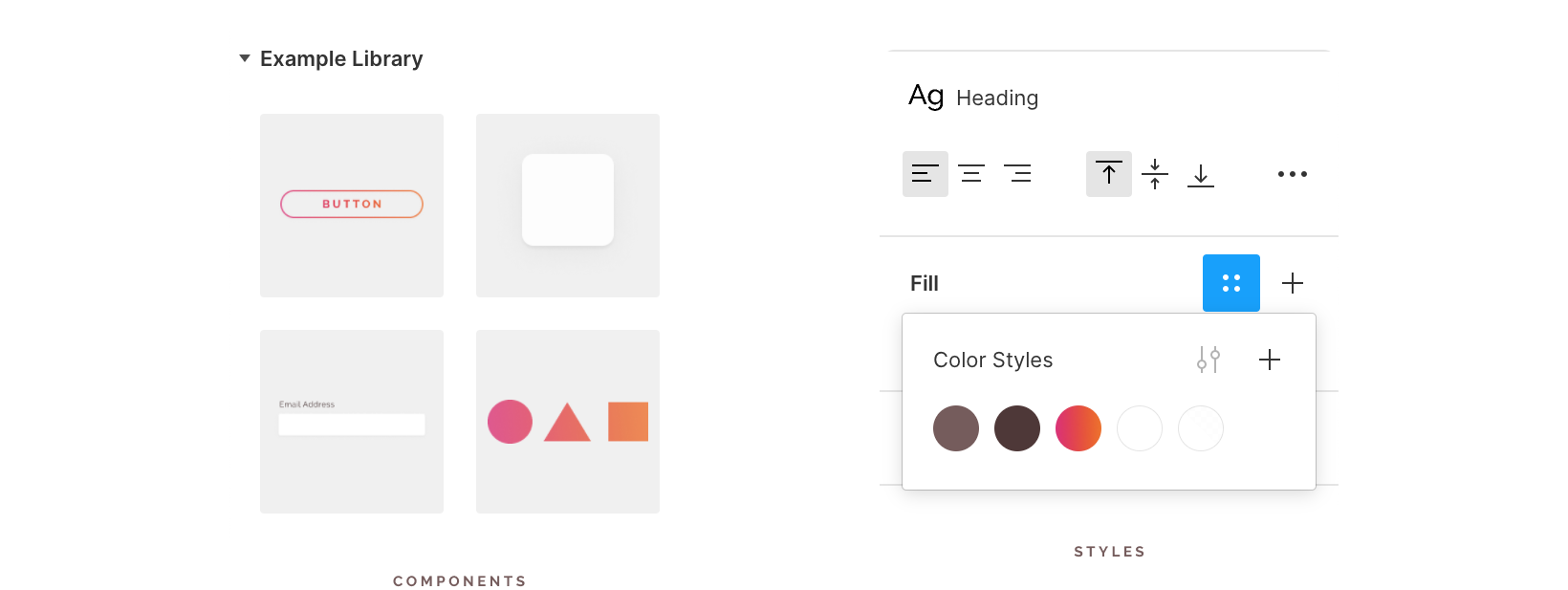 Figma design system example