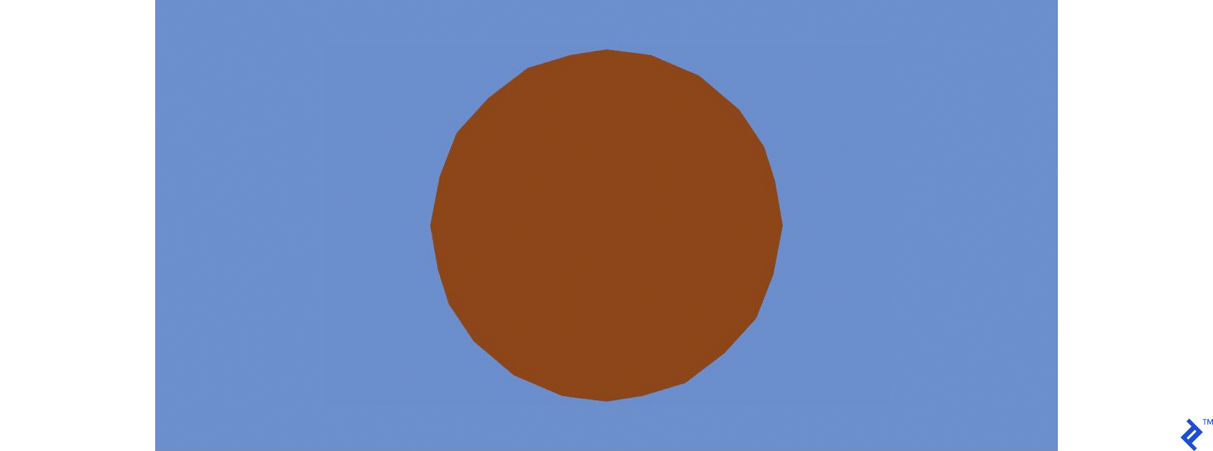 Brown object drawn on the canvas